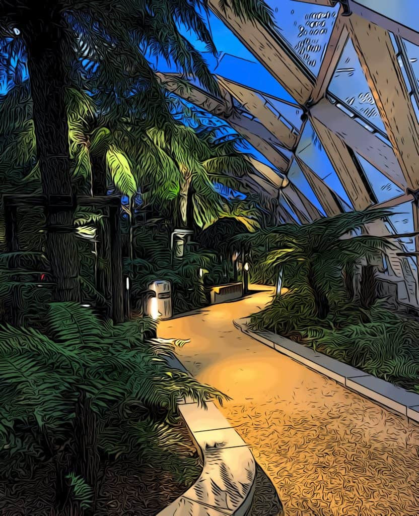 5 free things to do in Canary Wharf crossrail roof garden night