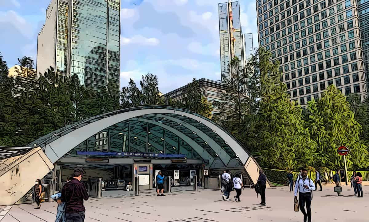 Canary wharf tube station zone 2