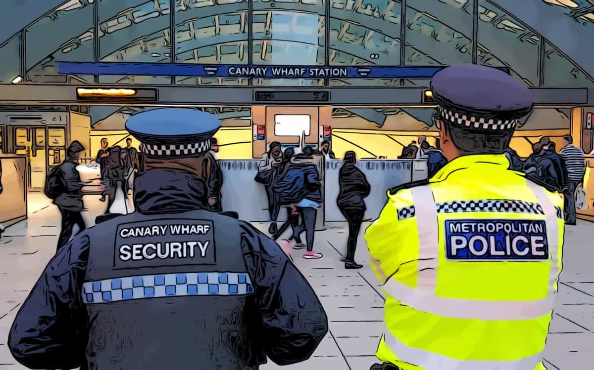 how safe is canary — wharf metropolitan police working with canary wharf security