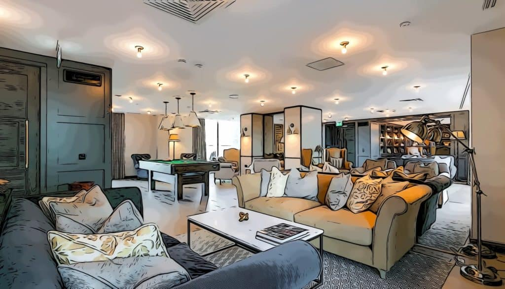 spacious-lounge-area-Ostro-Tower-Sailmakers-Harbour-Central