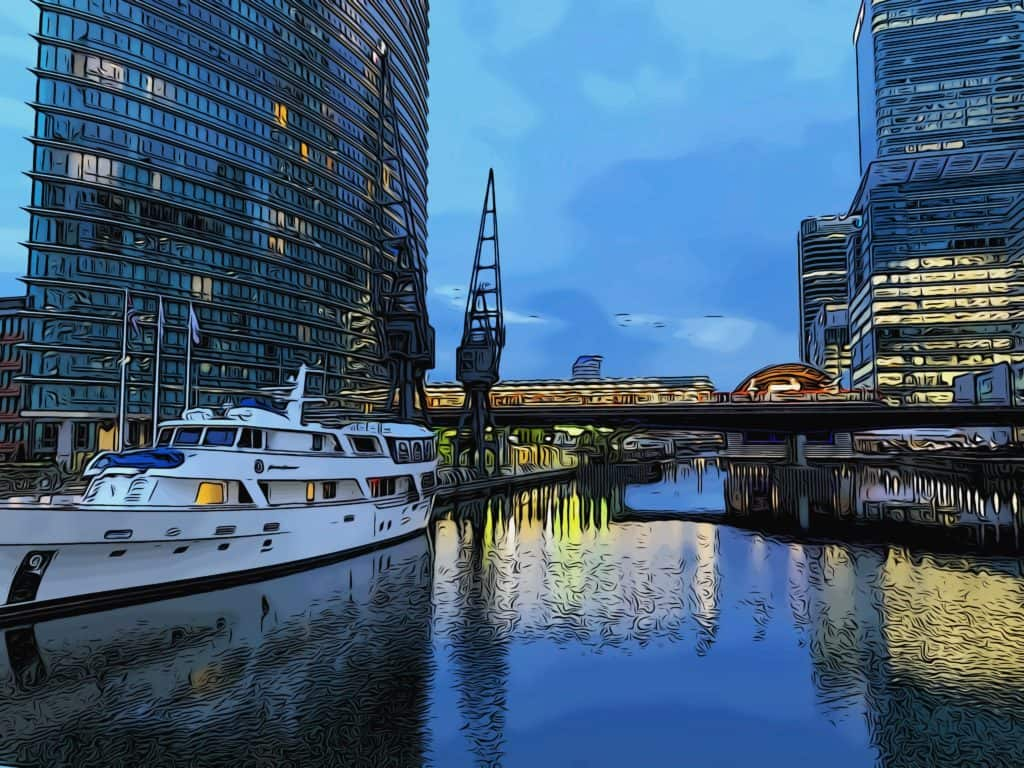 1 west india quay dlr crossrail stations water view