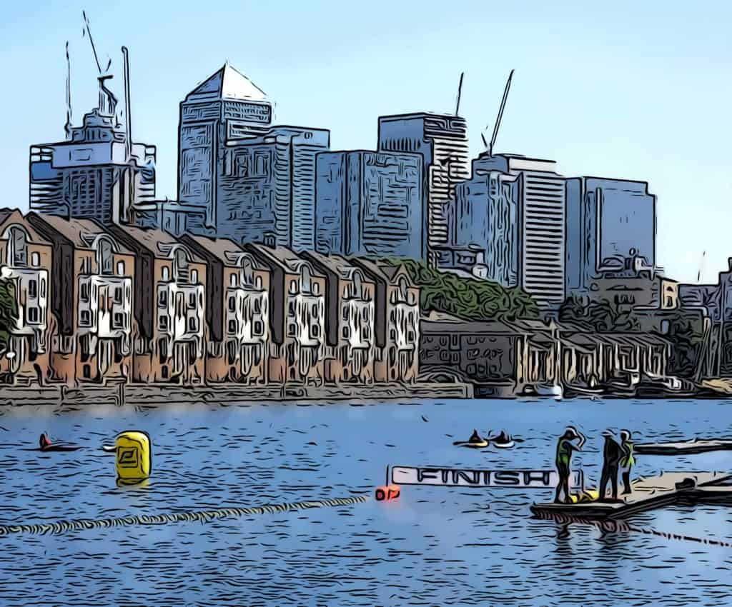 open-water-swimming-race-canary-wharf-view