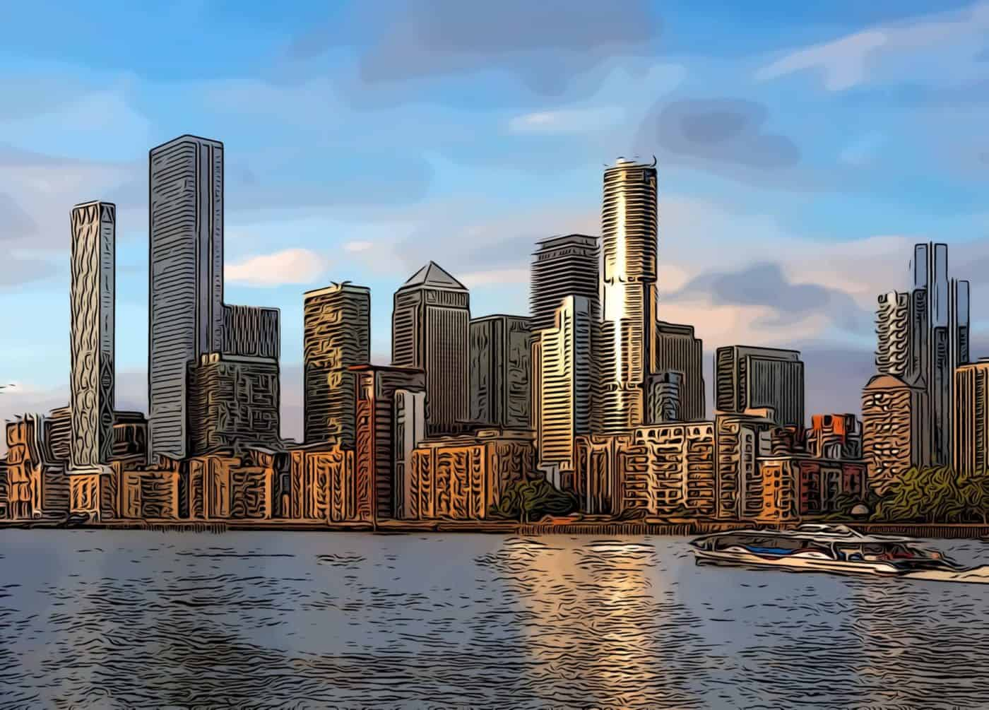 Renderings showing how Canary Wharf's skyline will look with Aspen and the Consort Place development