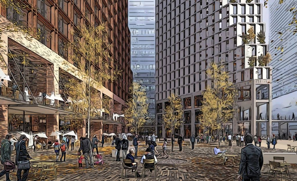north quay plaza the future development of canary wharf