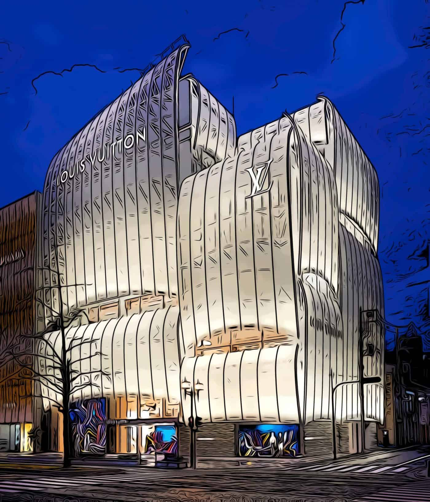Osaka luis vuitton flagship store designed by jun aoki architects