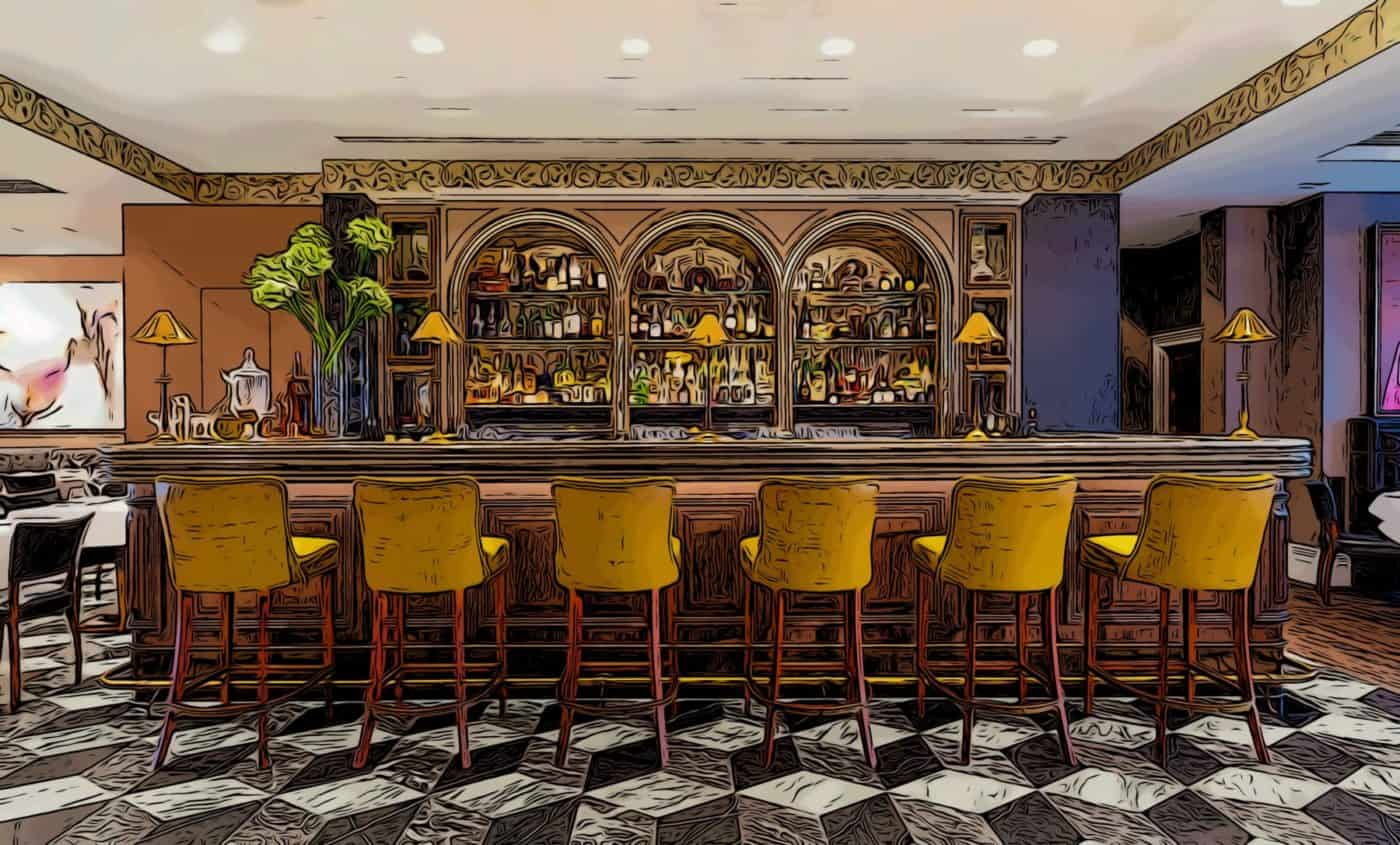 The arts club mayfair's opulent bar
