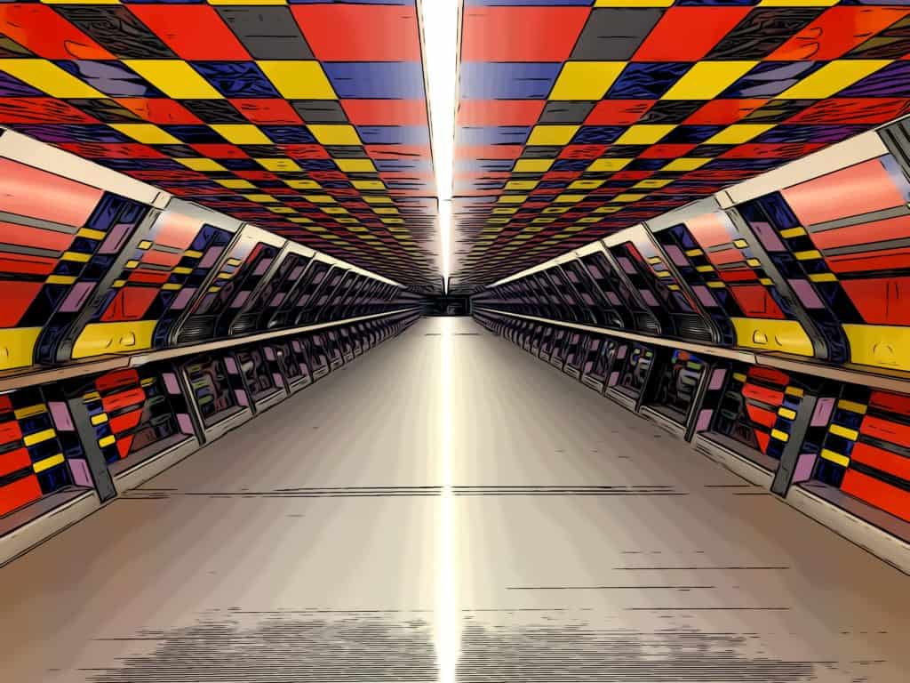 camille walala crossrail place tunnel art