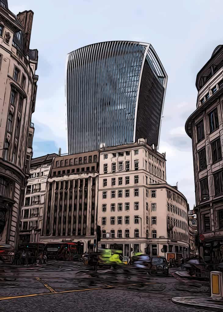 canary wharf facts walkie talkie building at 20 fenchurch street