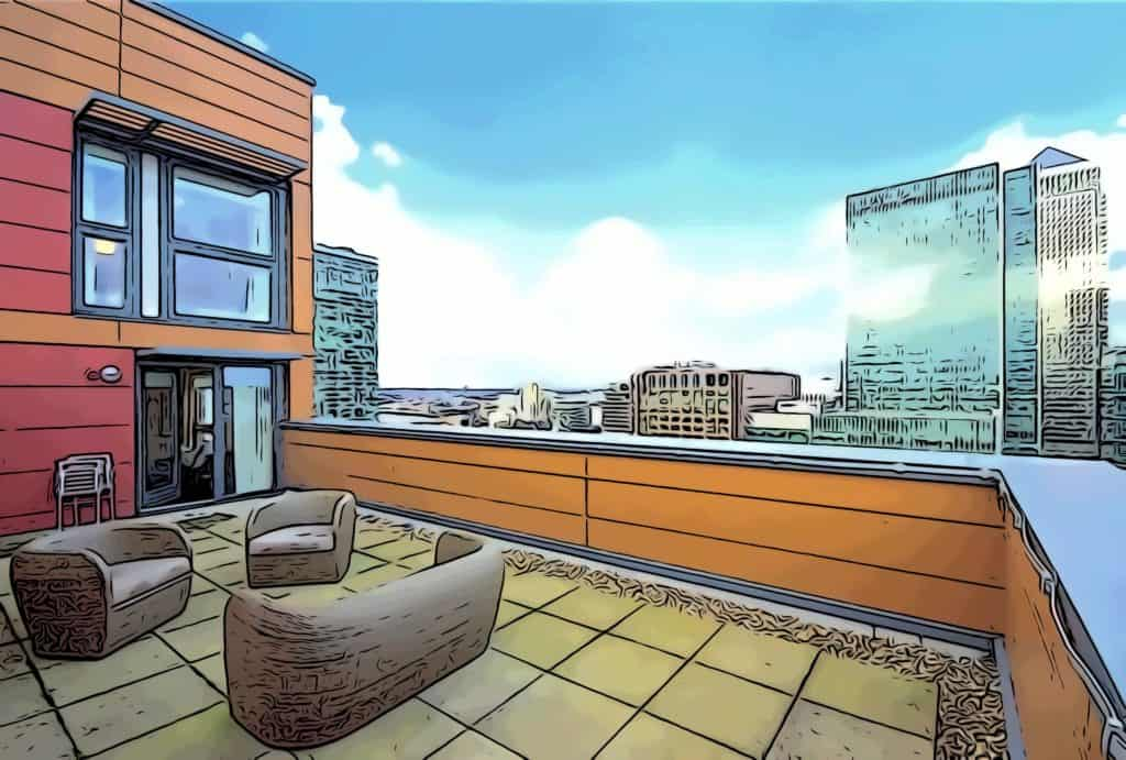 phoenix heights e14 spacious balconies with views towards one canada square