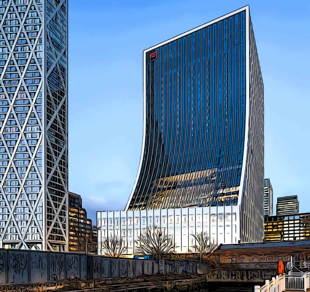 1-5 bank street home to societe generale at canary wharf