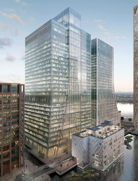 architect renders of 10 bank street in canary wharf