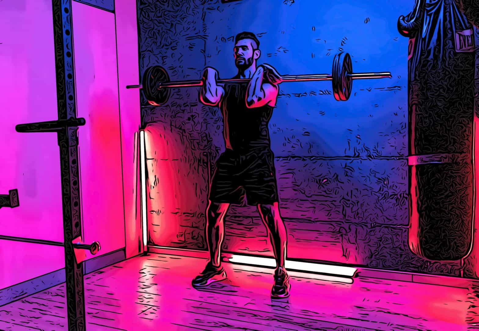 man weightlifting in a boutique canary wharf gym